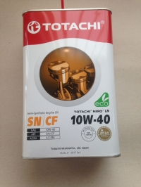 Масло моторное TOTACHI NIRO LV SN/CF Semi -Synthetic 10W-40 4л/3,47кг